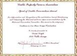 Spirit of Diablo Preservation Award